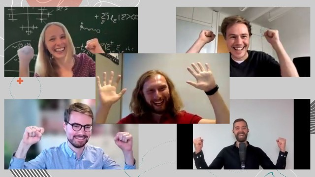 Winners of the Quantum Future Award: Dr. Annabelle Bohrdt, Benjamin Schiffer, Cem Güney Torun, Dr. Pascal Cerfontaine, Johannes Jakob Meyer