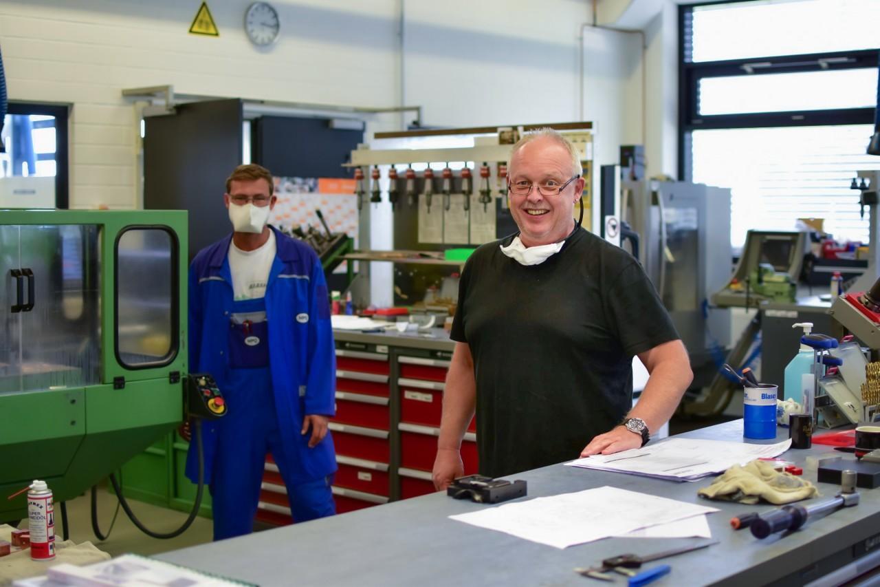 Michael Rogg working in the MPQ Werkstatt.
